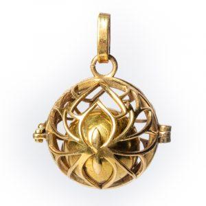 Lotus Bola Pregnancy Pendant Gold Color - 2.5 cm