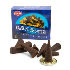HEM Frankincense Myrrh Incense Cones (1 Box)