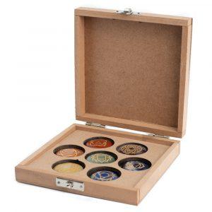 Chakra Gemstones in Storage Box