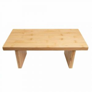 Meditation Bench Durable Bamboo Wood - Removable Legs