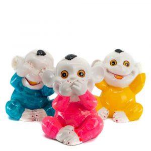 Statues Monkeys Set of 3 - Hear-See-Speak No Evil (14 cm)