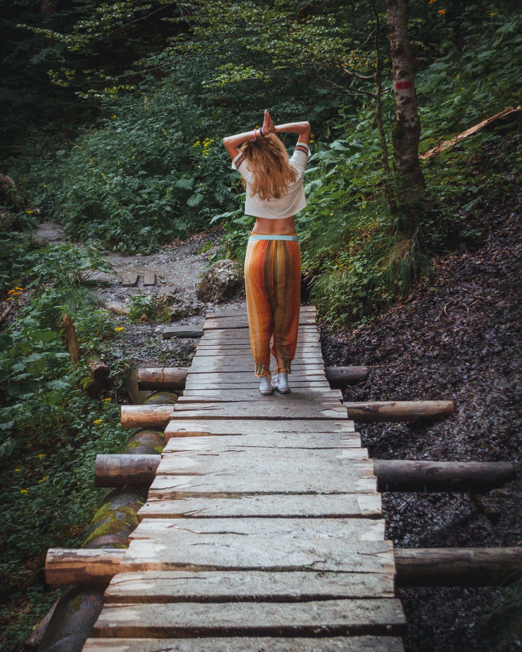 boho lifestyle yoga bridge harem plants