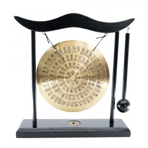 Feng Shui Table Gong with Symbols and Black Frame (20 cm)