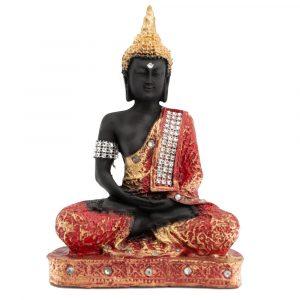 Meditating Buddha Painted (23 cm)