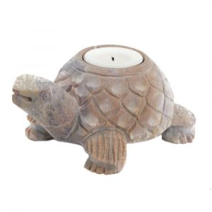 Turtle Soapstone Tea Light Holder (13 cm)
