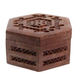 Jewelry Box Stone Brown (110 mm)