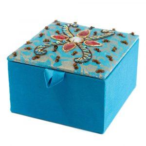Jewelry Box Aquamarine India (10 cm)