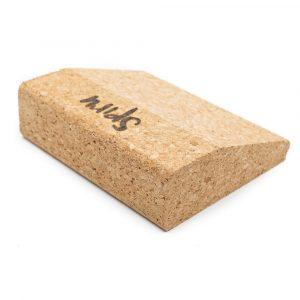 Spiru Yoga Block Eco Cork Wedge Short - 10 x 9 x 3 cm