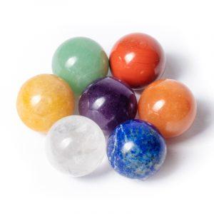 Feng Shui 7 Chakra Gemstone Balls - 2 cm