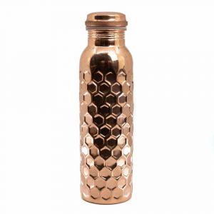 Spiru Copper Water Bottle Honey Comb - 900 ml