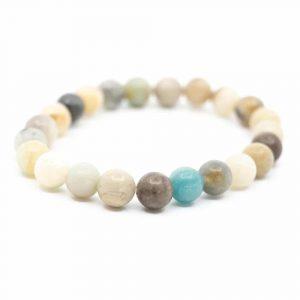Gemstone Bracelet Amazonite Mala Elastic
