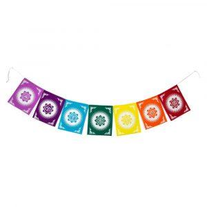 Prayer Flags Tibetan Cotton Chakra - 180 cm