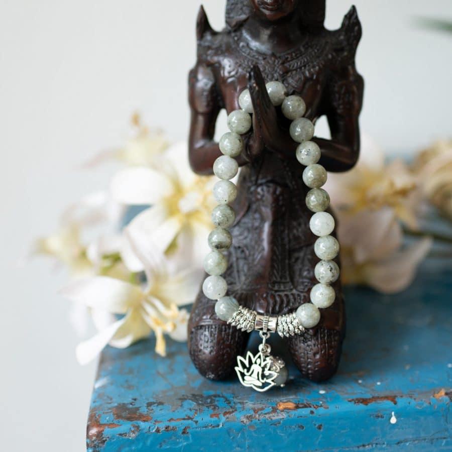 buddhist tara mala with lotus symbol