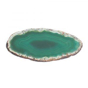 Green Agate Disc Medium (6 - 8 cm)